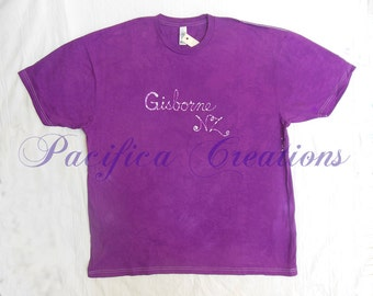 Gisborne NZ batik t-shirt - purple