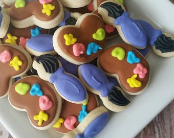 Mini Art Paint Pallet Sugar Cookies