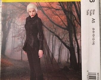 McCall's Sewing Pattern M7456 A5 Misses Costume Jacket Stirrup Leggings New UNCUT