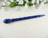 Hair Stick Longer Length Blue Lapis Acrylic