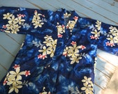 Reserved Vintage Hawaiian Kimono Shirt  Cover up Miss Hawaii Size Small