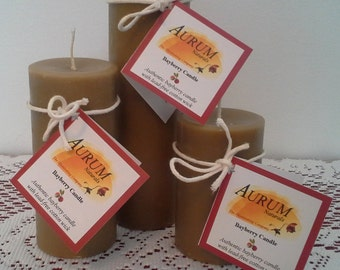 Authentic Handmade BAYBERRY Candles - classic pillar set
