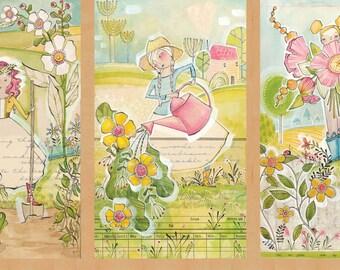 Garden Girls - Panel by Cori Dantini for Blend Fabrics