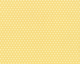 Strawberry Fields Revisited - Polka Dots in Butter by Fig Tree & Co for Moda Fabrics