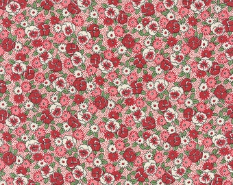 Bread 'n Butter - Pansies in Red by American Jane for Moda Fabrics
