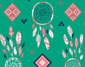 Minky Baby Blanket - Emerald Dreamcatchers - Personalization Available - Toddler Blanket
