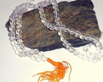 Clear Quartz Jap Mala Prayer Beads