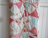 Vintage Baby..........A Fray Edge Circle Quilt........Ready to Ship
