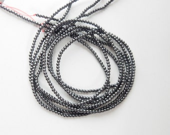 3mm Hematite  round beads , FULL STRAND (16 inches)