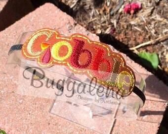 ON SALE Gobble BuggaBands / Headband Machine Embroidery Design