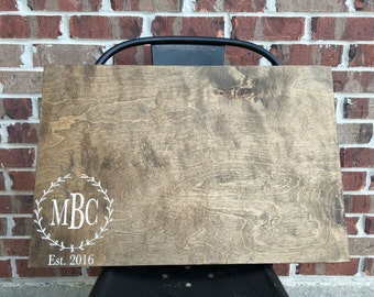 """Wood Wedding guest book - 24"""" wide by 16"""" long"""