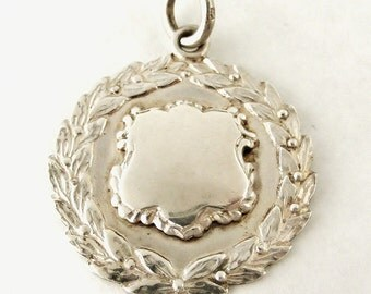 Vintage sterling silver watch fob
