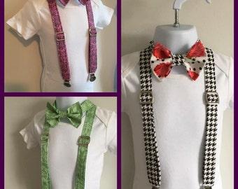 Little Mr. Bow Tie and Suspender Set