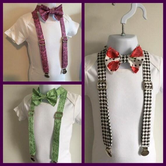 mr bow tie and suspender set