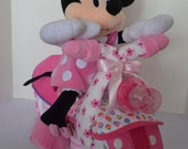 Motorcycle Diaper Cake,  Bike, 2-wheeler,Baby Shower Gift, Centerpiece, Baby Cake,  Baby Girl Gift, Sock Monkey, New Baby