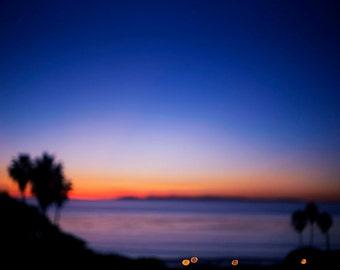 California Sunset - Fine Art Photograph, ocean, pacific coast, orange county, landscape, room decor, wall art, travel photography