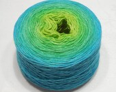 Gradient yarn cashmere yarn hand dyed heavy lace or light fingering weight yarn 102-105g (3.6-3.7oz) - Spring breeze