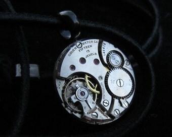 Industrial Unisex Watch Movement Necklace Pendant A 13