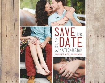 Printable Save The Date Postcard - Squared