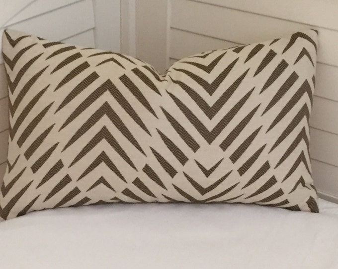 Dwell Studio Palmwood in Birch (on Both Sides) Indoor Outdoor 12x20 Lumbar Pillow Cover