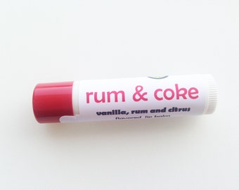 Rum & Coke flavored lip balm - rum and cola cocktail flavored lip balm