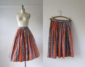 vintage 1950s skirt / 50s skirt / Country Hearthsong