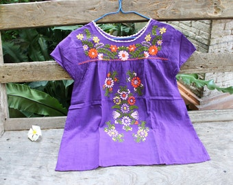 M-L Bohemian Embroidered Top - Purple 2