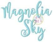 "Magnolia Sky Embroidery Font 1.0"", 1.5"",  2.0"", & 2.5:"", Letters, Punctuations and numbers in four sizes,  INSTANT DOWNLOAD now available"