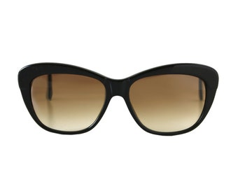 vintage black sunglasses - cateye sunglasses for women with gradient lenses - 50s style sun glasses - ghost