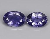 IOLITE (30987) PAIR ( 2 Gems) 5 x 7mm Blue Iolite - Faceted