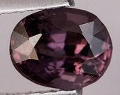 SPINEL (24073) - Sparkling! Clean! Violet 6 x 5mm Oval Cut Spinel - Faceted - Sri Lanka