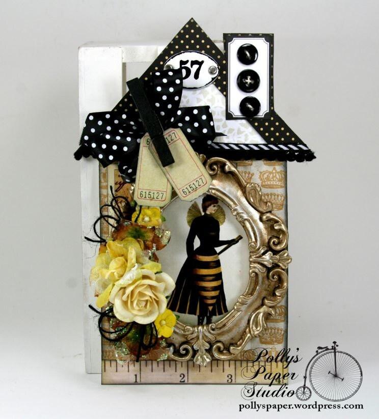 Bee Home Decor: Queen Bee House House Tag Home Decor Handmade
