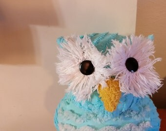 chenille pillow owl
