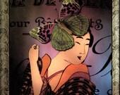 Geisha Card, Blank Card, All Occasion Card, Japanese Card