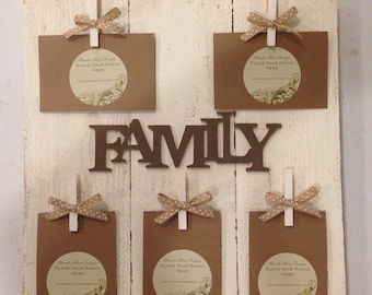FAMILY Photo Board in Ivory