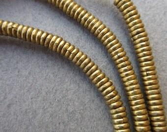African Brass Heishi Beads