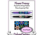Bead Pattern Peyote(Pen Wrap/Cover)-Flower Frenzy