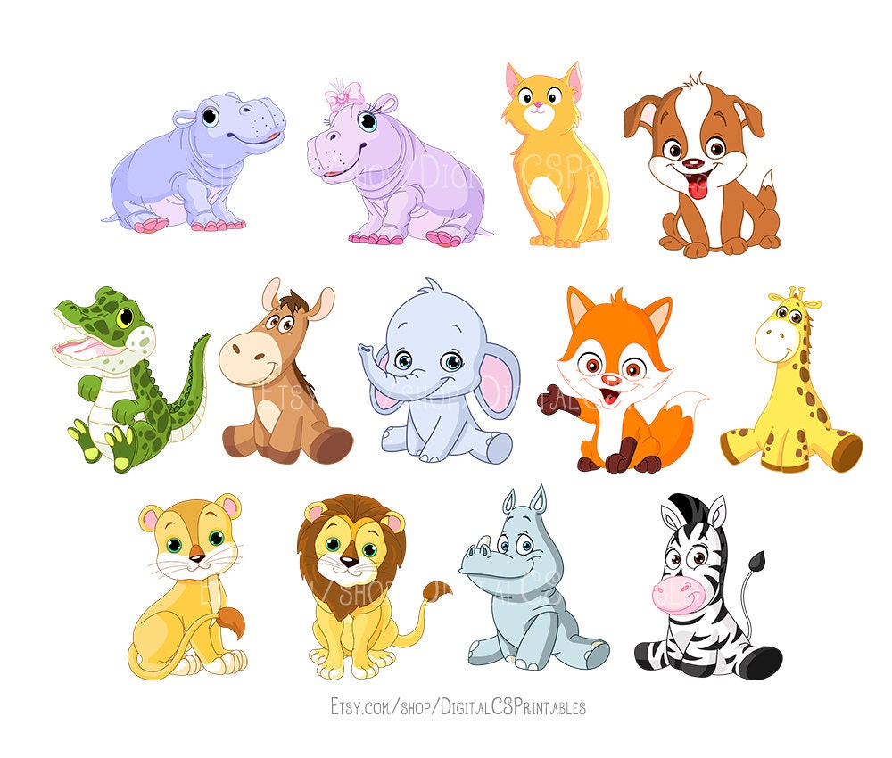 Cute animal clipart kids clipart cute clipart safari - Animal drawwing kids ...