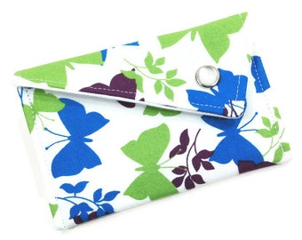 Business Card Holder - Purple, Blue, Green Butterfly (LIMITED EDITION) Card Case Wallet