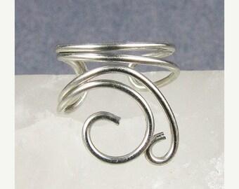 Summer Sale - 10% off - Silver Mini Swirls Ear Cuff