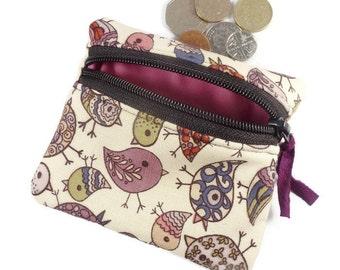 Bird coin purse, card pouch