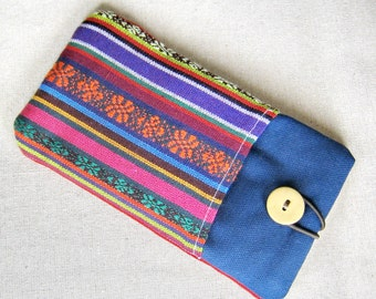 6P iPhone 6 plus sleeve, iPhone pouch, Samsung Galaxy S3, S4, Galaxy note, cell phone, ipod classic touch sleeve - Tribal print