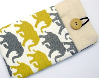 6P iPhone 6 plus sleeve, iPhone pouch, Samsung Galaxy S3, S4, Galaxy note, nexus, ipod classic touch sleeve - Elephant (119)