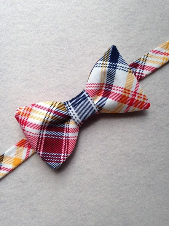 plaid bow ties custom made bow ties s plaid cotton