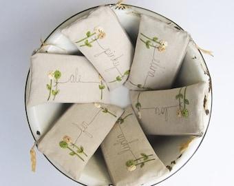 Rustic Wedding, Rustic Bridesmaid Gifts, Personalized Natural Linen Clutch, Custom Bridesmaid Clutch, Tan, Beige, Greenery