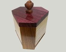 Art Deco Hexagonal Jewelry Keepsake Box