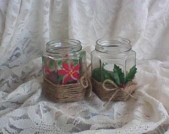 Holiday tealight holders