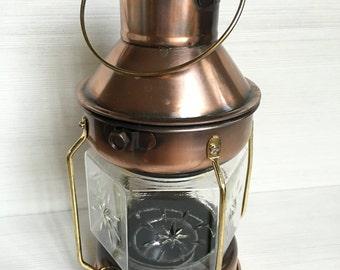 Vintage style copper candle lantern