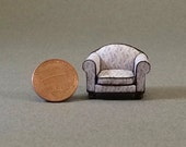 Quarter Inch Scale Furniture - Overstuffed Style Chair