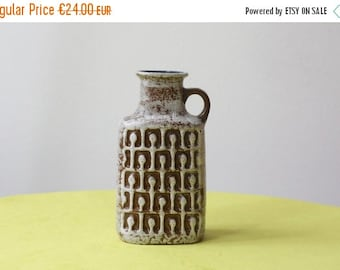 Summersale East German Pottery VEB Haldensleben Handled Vase
